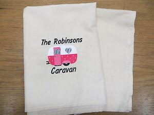 Personalised Caravan Tea towel