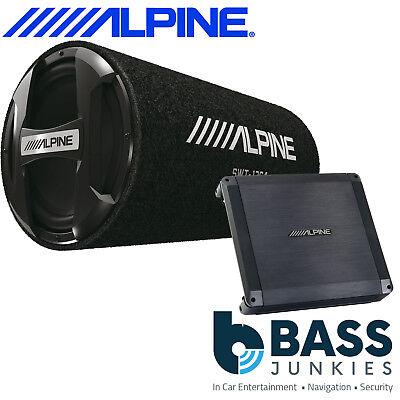 "ALPINE 1000 Watts 12"" Sub Subwoofer Car Bass Tube 2 Channel"