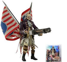 Bioshock Infinite Benjamin Franklin heavy hitter motorized PATRIOT 23cm OVP NECA