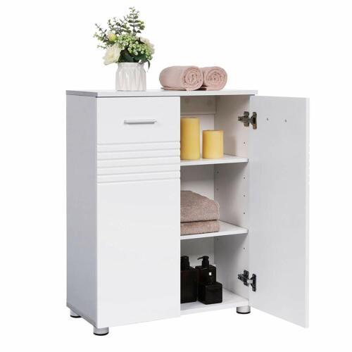 Badezimmerschrank Doppeltür-Badschrank Beistellschrank Badezimmer weiß BBK41WT