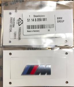 Logo BMW M Chrome Wing Series 1 2 3 4 5 6 7 8 Badge Original X1 X5 X6 X4 M3 M1
