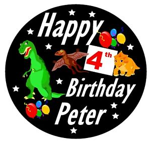 Dinosaurier - Groß Geburtstag Personalisiert Abzeichen,Jedes Alter,Name,& Alle