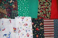 Lot Of 40pcs Christmas Quilt Blocks, Cotton Fabric Charm Pack, 10 Squares