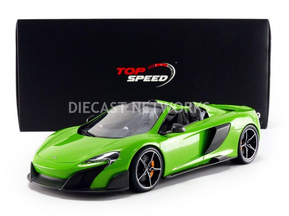 Top Speed 2016 MCLAREN 675LT SPIDER GREEN 1 18 Scale New  LE of 999