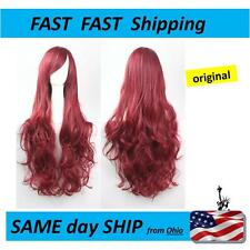 Beautiful LONG red / wine WIG - - - - FAST Shipping from Ohio