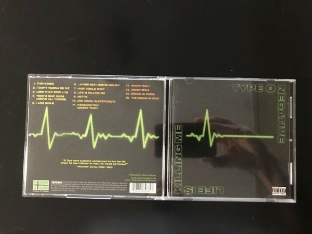 Life Is Killing Me Pa By Type O Negative Cd Jun 2003 Roadrunner Records For Sale Online Ebay