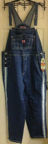 Women/'s plus size 16 NWT Revolt darkwash Jean Overalls Striped sides