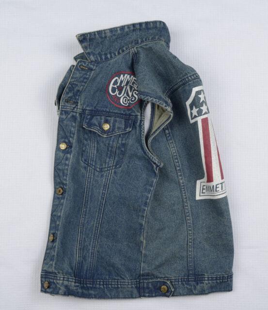 EMMETT Mens Denim Jacket Vest Waistcoat S Workwear Trucker Chore Utility USA NEW