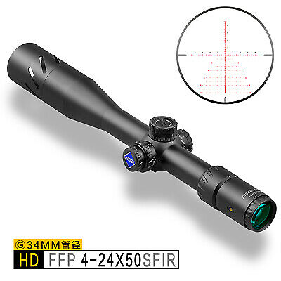 Discovery HD 4-24X50 SFIR   Hunting Rifle Scope  First Focal Plane  Rifle Scope