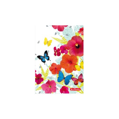 Schmetterlinge // kariert DIN A6 70g//m² Notizbuch 96 Bl Herlitz Kladde