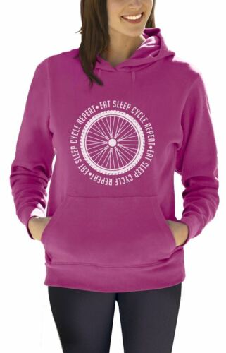 Cycling Bike Cool Women Hoodie Gift Idea Eat Sleep Cycle Repeat
