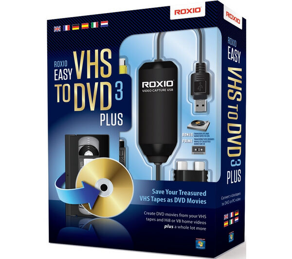 Roxio Easy Vhs To Dvd 3 Plus Converter 251000 For Sale Online Ebay