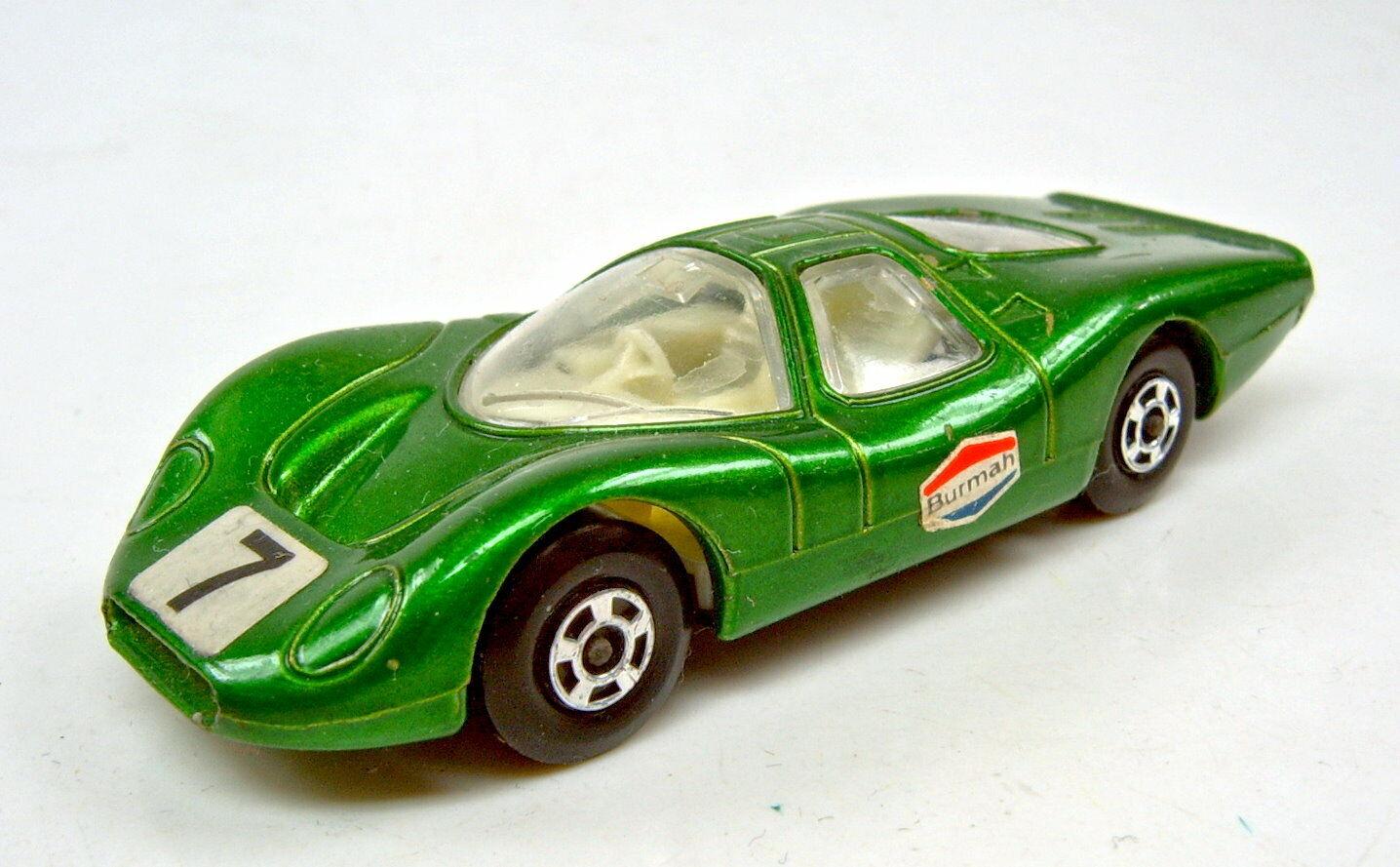 Matchbox Superfast Nr.45A Ford Group 6 grünmetallic  7 & Burmah  Aufkleber  | Geeignet für Farbe