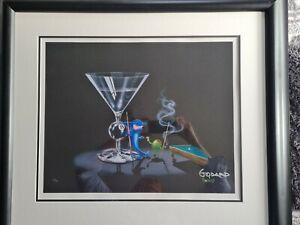 Michael Godard Giclee in black frame   pool shark