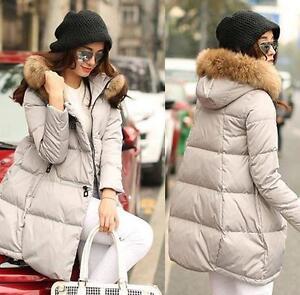 capuche fourrure pour col hiver à Outwear chaud chics Coton manteaux femmes de xqYwIp1