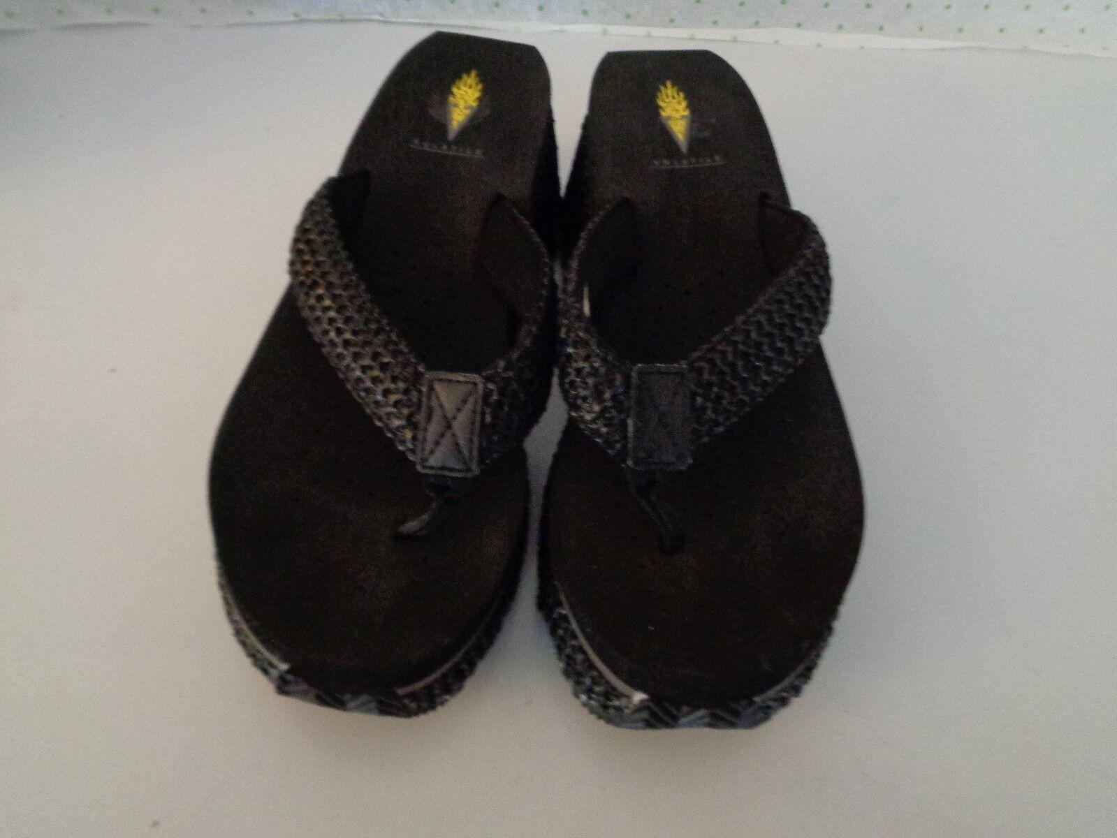 Volatile Women's Slides Black weave Platform Wedge Slides Women's Size 9 US--CLEAN 2a2b7f