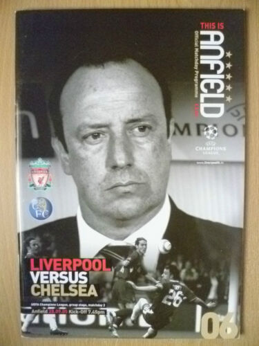 2005 UEFA Champions' League LIVERPOOL v CHELSEA Official Programme