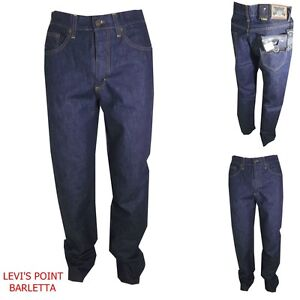 Dettagli su wampum jeans da uomo elasticizzato blu regular fit blu pantaloni vita alta 46 56