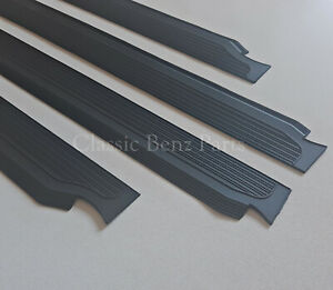 Mercedes-W114-W115-Sedan-Door-Sill-Rubber-Plate-Cover-Set-4-Pieces-New