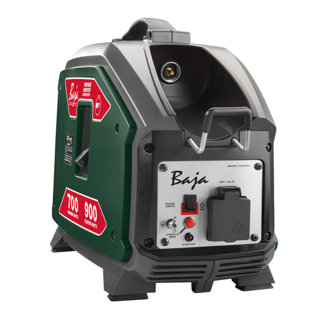 Baja Inverter Generator 900-Watt Propane Powered Muffler Auto Idle Control