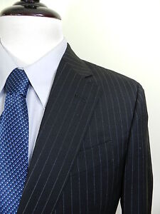 Armani-Collezioni-Black-Pinstripe-2-Button-Business-Suit-40R-1895