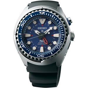 New-Seiko-Prospex-Kinetic-GMT-Stainless-Steel-PADI-Diver-039-s-Men-039-s-Watch-SUN065