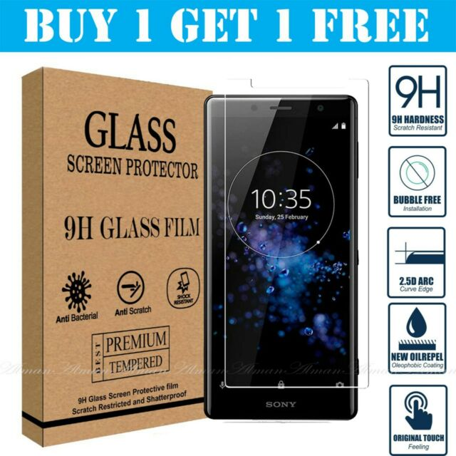 Tempered Glass Screen Protector For Sony Xperia XA XA1 XA2 XZ Ultra Compact Mini