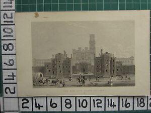 1851-ANTIQUE-LONDON-PRINT-THE-NEW-CITY-PRISON-HOLLOWAY