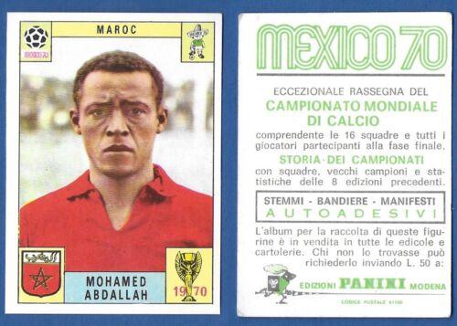 FIGURINA CALCIATORI PANINI MEXICO 70 NUOVA//NEW MAROC ABDALLAH