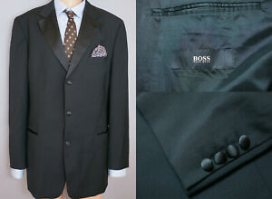 Sporting Herren Hugo Boss Jacke Blazer Chaplin Charlie Schwarze Wolle Xl It52 Us Uk 42 Anzüge