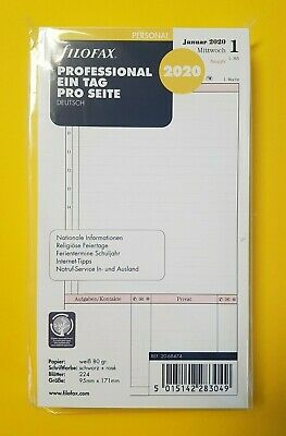 Filofax 20-68714 Kalendereinlage A4 Week on two pages Diary 2020