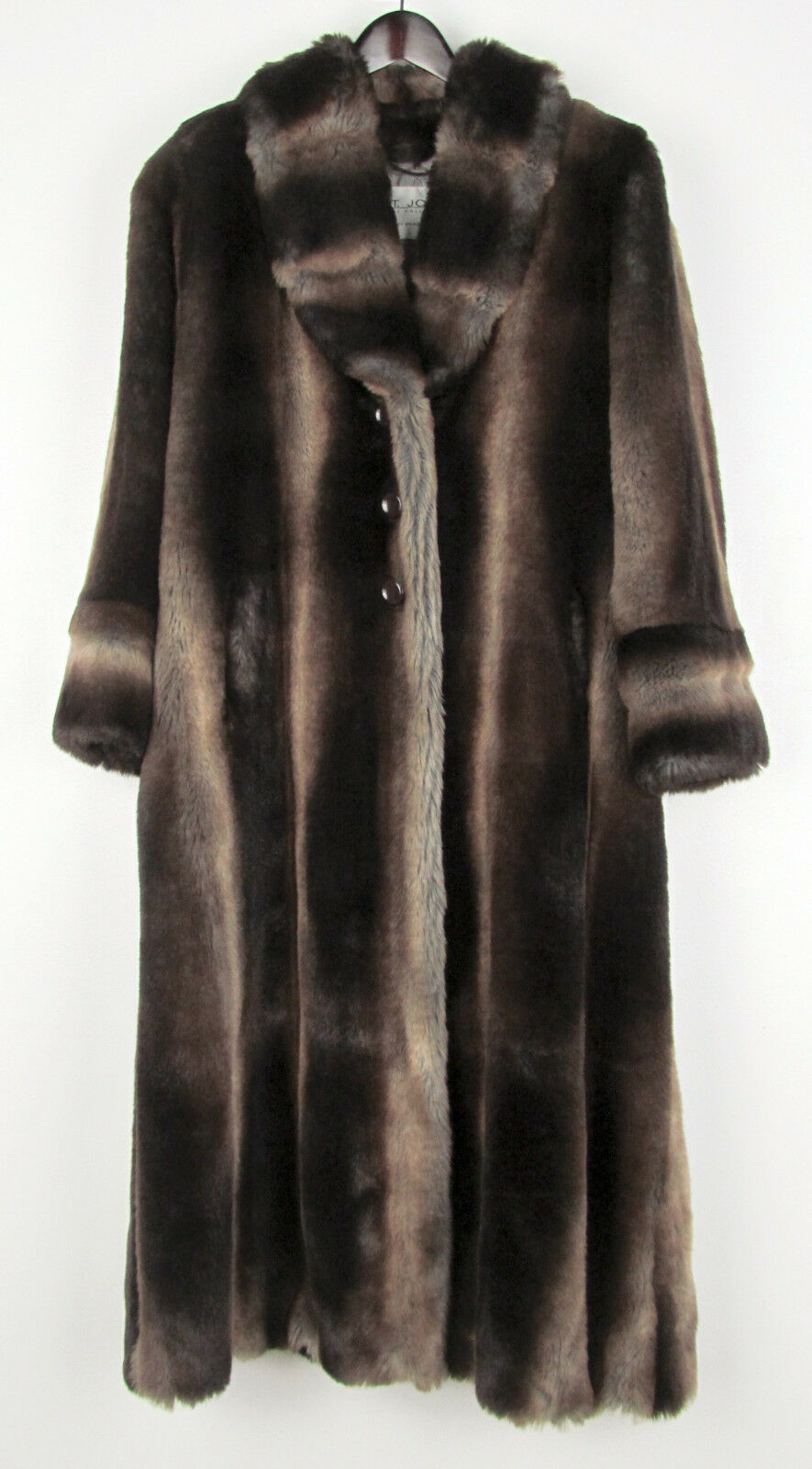 2995.00 New St John Faux Sable Fur Full Length Coat US Women's 4 Made In USA