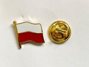 Poland Łódzkie Flag Lapel Pin Badge