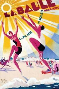La-Baule-France-Vintage-Travel-Art-Print-Mural-Poster-36x54-inch
