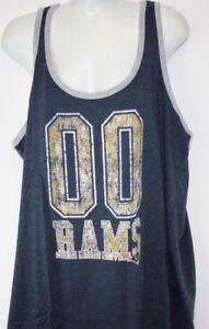 d52524d1 NEW Womens NFL Apparel Los Angeles Rams 00 Navy Blue Tank Top ...