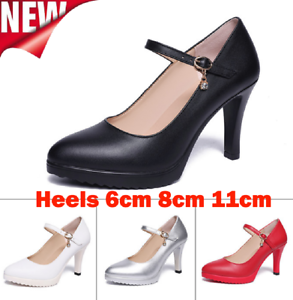 Women-Pointed-Toe-Low-Mid-High-Heel-Stiletto-Work-Smart-Wedding-Pumps-Shoes-New
