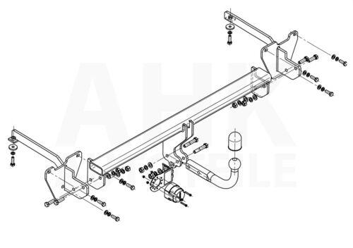 Für Fiat Doblo II 263 Anhängerkupplung starr+ES 13p ABE