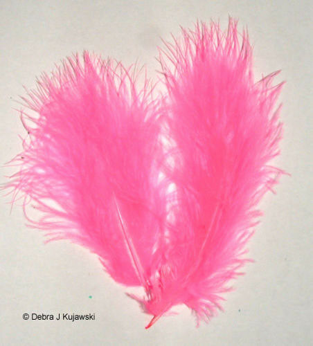 """Quality Marabou Feathers PINK ORIENT //Fluffy 3-8/"""" L  7 grams Approx 35 ct"""
