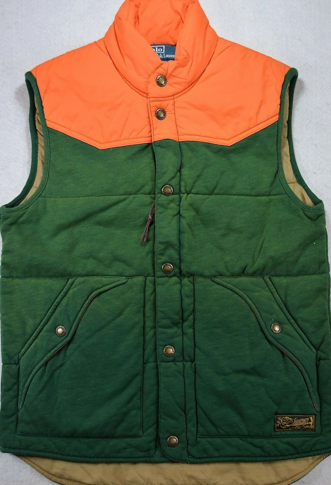 Polo Ralph Lauren Quilted Lined Outerwear Vest Größe S Small NWT 198