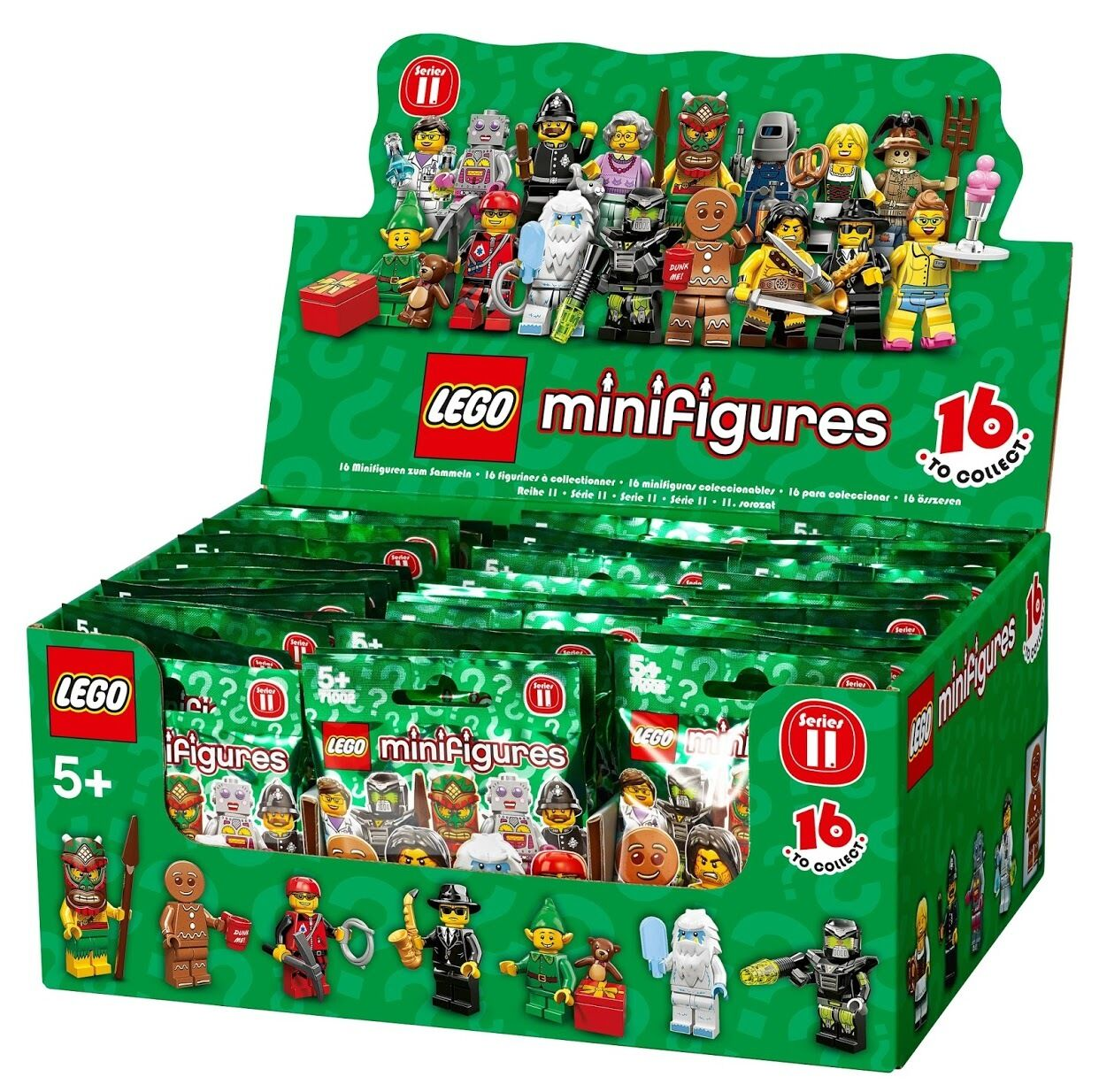 New Factory Sealed LEGO 71002 Box/Case of 60 Minifigures Series 11