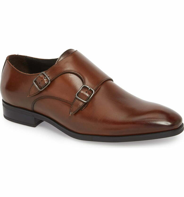 To bota New York Benjamin Doble Monje Correa Zapato Marrón Saloon De Cuero