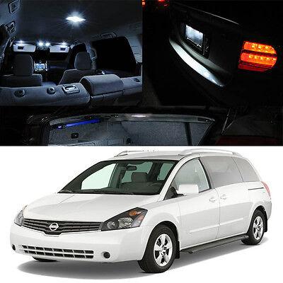RED For 00-06 Nissan Sentra Sunny Interior LED Xenon Light Bulb HID Full Kit