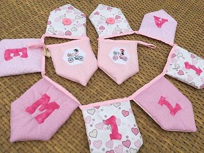 Party Supplies Open-Minded Bunting Personalised Any Name Children's Padded Luxury Pink Any Name Girls Room Wall Décor