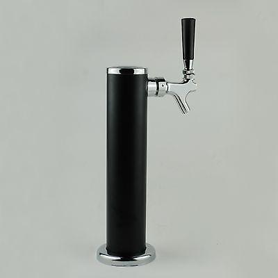 "Single Tap Chromed Draft Beer Kegerator Tower - 2 1/2"" Dia. Homebrew"
