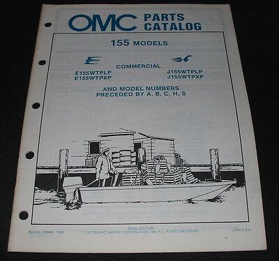 Parts Catalog Omc 155 Models Outboard Marine Ersatzteilkatalog Stand 03/1985!
