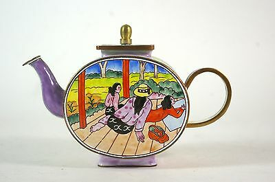 Kelvin Chen Miniature Enameled Teapot Paul Gauguin Resting