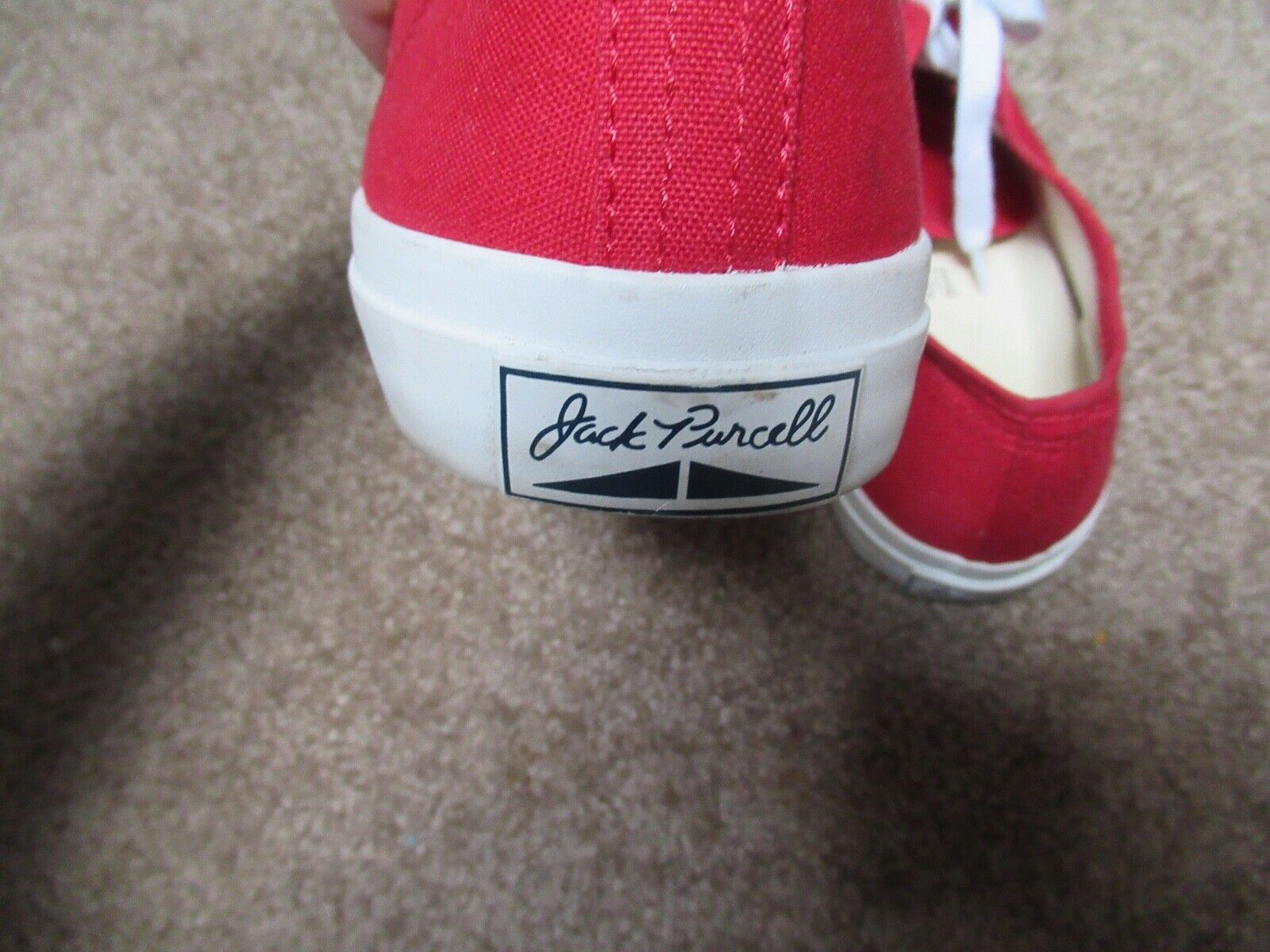 ~~VINTAGE 90's Dead Stock Red Canvas JACK PURCELL… - image 4