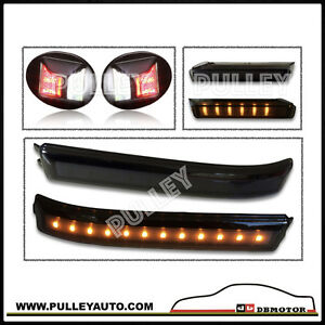 DBMOTOR-2009-2014-F150-LED-Mirror-Reflector-amp-Indicator-LED-License-Lamp