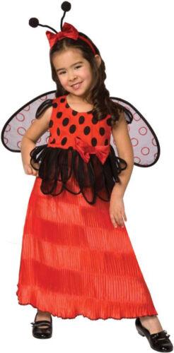 Morris Costumes Girls Lady Bug Dress Wings Antennae Costume Toddler 3-4 LF1087T