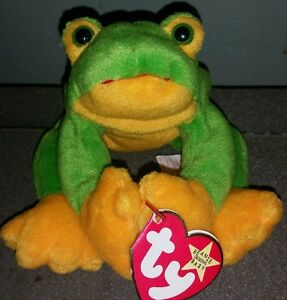5dfa405a63a Image is loading 1997-SMOOCHY-FROG-TY-BEANIE-BABY-WITH-TAG-